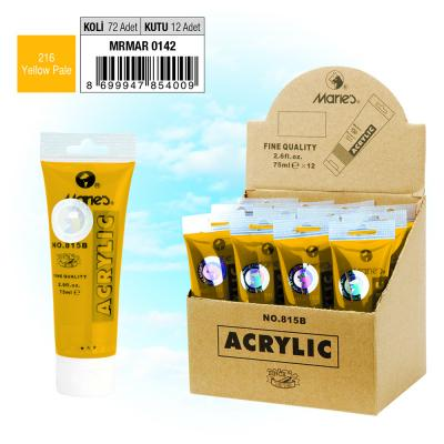 MARIE'S AKRİLİK BOYA - 75 ML - 216 Yellow Pale